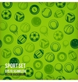 sports seamless background equipment vector image