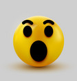 surprised emoji isolated on white background vector image