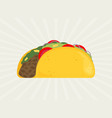 taco in flat style vector image