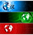 tech colorful banners vector image vector image