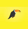 toucan bird cartoon character cute toucan flat vector image vector image