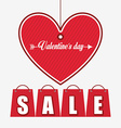 valentines sale design vector image vector image