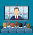 Video conference concept vector image vector image