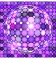 violet shining disco ball vector image