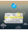 Weather Widget vector image vector image