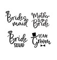 wedding lettering set black hand lettered quotes vector image vector image