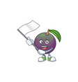 with flag star apple character in cartoon mascot vector image vector image