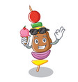with ice cream barbecue character cartoon style vector image vector image
