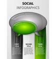 social infographics vector image