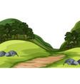 A green nature landscape