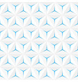 abstract white seamless pattern geometric vector image vector image