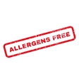 Allergens Free Text Rubber Stamp vector image vector image