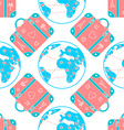 background patterned travel suitcase in a flat vector image vector image