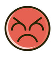 bad funny smiley emoticon face expression line and vector image