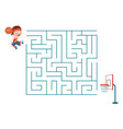 basketball maze vector image vector image