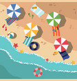 beach in summer vacation destination vector image vector image