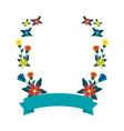 beautiful flowers wreath crown vector image