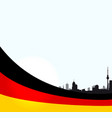 berlin with german flag vector image vector image
