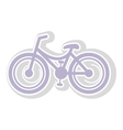 Bicycle contour in light purple with shadow