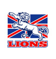 british lions flag vector image vector image