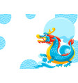 card with chinese dragon vector image