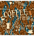 Coffee seamless tile vector image vector image