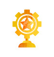 cog wheel golden award on a vector image