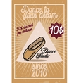 Color vintage dance studio banner vector image