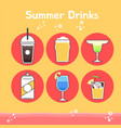 cool and delicious summer drinks vector image