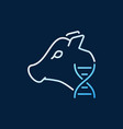cow with dna colored concept outline icon vector image