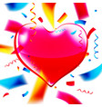 cute pink heart with space for text vector image