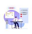 deadline concept employee busy and hurry finish vector image