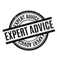 expert advice rubber stamp vector image vector image
