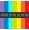 Film strip frame Straight shape ribbon Design vector image vector image