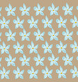 flower jasmine ornament seamless pattern vector image vector image