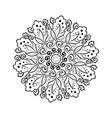 flower mehndi round ornament mandala vintage vector image vector image