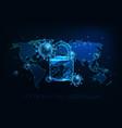 futuristic global lockdown due to coronavirus vector image vector image