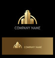 gold building construction business logo vector image vector image