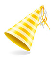 happy birthday cap with ribbon stock vector image vector image