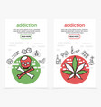 harmful addictions vertical banners vector image vector image