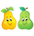image with pear theme 3 vector image vector image