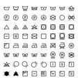 laundry icons set in line style vector image vector image