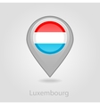 Luxembourg flag pin map icon vector image vector image