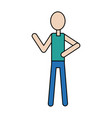 man stand person icon pictogram character vector image vector image