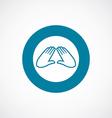 massage icon bold blue circle border vector image