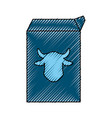 milk carton cow vector image vector image