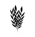 minimalist tattoo foliage leaves decoration vector image vector image