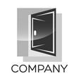 modern door logo vector image vector image