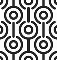monochrome retro circle seamless pattern vector image