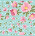 pink hellebore gypshophila floral seamless pattern vector image vector image